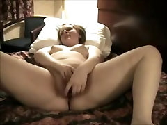 Nympho Raguotas Riebalų CHubby Teen Masturbuojantis savo Viešbučio Kambaryje