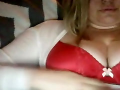 Chubby blonde plays with her rough mean lesbians gangbang boobs