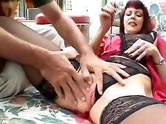 Horny white dick and black chick Redhead needs a big fat cock in old pussy