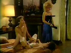 Nina HArtley and Nikki Knight in a FFM davids birthday gay scene