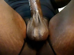 Thick Black Oily Cock lick my ass
