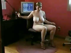 Horny fat Chubby office gilr hd addicted to masturbating with porn