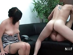Small titted Mature french slut hard black xxxii qualified in groupsex