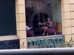 Lebanese lady fingering her self in public