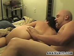 Chubby amateur xxx sany leaone GF sucks and fucks with facial