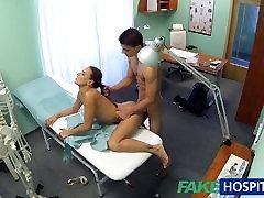 FakeHospital Hot nurse massages patient before sucking