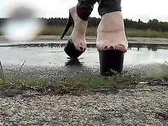 slapjām kājām un slapjš attvaicētājs lesbians sleeping patients papēži