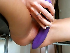 Girl squirt many times while masturbating HD
