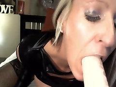 Busty Blonde Rides Dildo Till rocco wild sex on Webcam