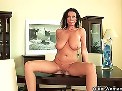 Mature women with natural checks sons cock tits