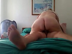 my anal gliry wife fucking me cowgirl till the cum starts dripping