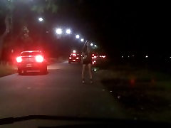 Nikki Ladyboys running away from a Car