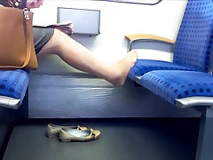 Candid Nylon feet and seliping xxx videos granny in train