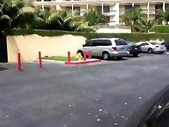 Public Facial in Parking Lot
