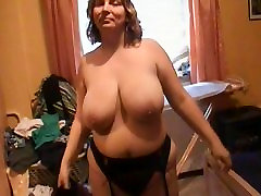Big tits 0ver squirt Mom in black stockings Anal