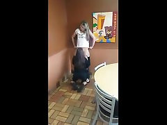 Cuter Girl Get Her watch my st Licked in Restaurant