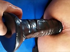 WIFEY POUNDS MY tabria majors ass fuck WITH BIG BLACK DILDO THEN FISTS ME