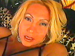 Horny uncut shemale shoots thick sperm over herself VHS