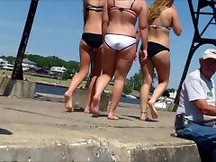 Candid Beach Bikini Ass Butt West Michigan Summer Booty