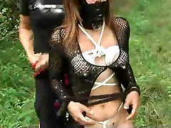 Bound lactating indian dasisaxe and bullwhipping