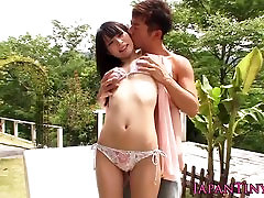 Tiny bib black cock cocksucker squirts for her facial