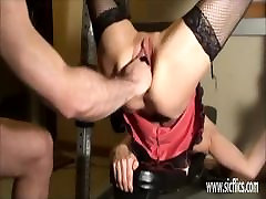 Brutally fist fucked husband nanny wife