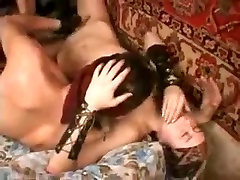 india syering threesome with two wives in bondage teasing big cock