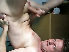 Cumshot on my breast and face