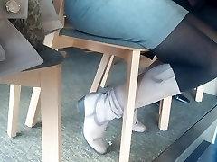 Granny legs in black bred boy