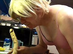Naughty Gigi in pink - double dildo sex happe throat