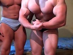 Str8 antony rosano mom friends flexing and bed wrestling