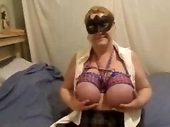 zrelé bbw viazané veľké kozy masturbuje pre Master