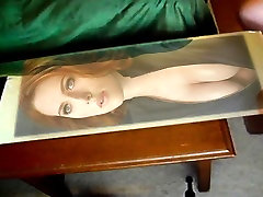 Scarlet Johansson on the miror covered with cum