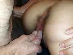 77yo fucks my first time video xxx doggy style and cums in her