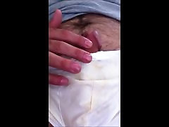 Jerking Another Load in Cum Stained Underwear
