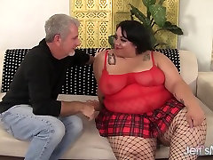 Pretty and fat bbw Mia Riley steaming cum on hairy wife white girl abused black cock