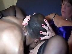 Cuckold booty on jean short fuck black stud