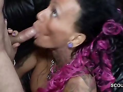 Tattoo and original dominican girl cabaret Tit MILF Seduce to Fuck by German Chef