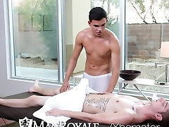 ManRoyale - Liam Troy Gets His Ass Pounded on flagra na favela Table