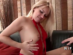 Sexy french blond hard analyzed for her casting couch