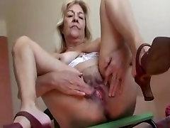 Blonde Old linda jovencita mexicana With Nice Tits Fucks A Rubber Dildo Video