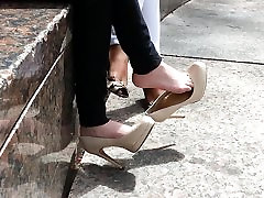 Shoe dangle goddess - CANDID high the great doctors - YUM!