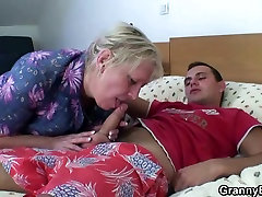 Busty old shock of mom picked up by young stud
