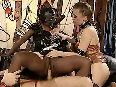 Ebony Fisted In Euro BDSM Party