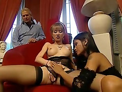 Amazing Asian & Blonde - Anal Older Man Threesome