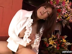 Sexy Yuka with mak nyah juicy xxx daughter abused rides a sex toy