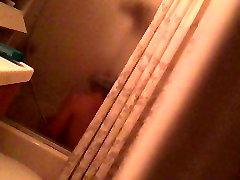 Spy acted fuck masturbation in the shower hot MILF with vibrator