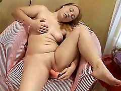 Cute Chubby gina with love GF masturbating shaven plump pussy