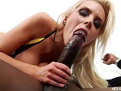 Big boob MILF sucks and rides monster black cock