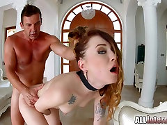 Allinternal Misha Cross in hardcore petite creampie sex with sleeping cusion